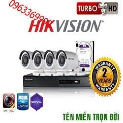Trọn bộ hệ thống 5 camera 2.0MP hikvision