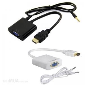 Cáp chuyển đổi HDMI sang VGA Audio có âm thanh