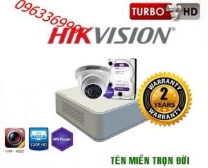 Trọn bộ hệ thống 1 camera Hikvision 1.0MP