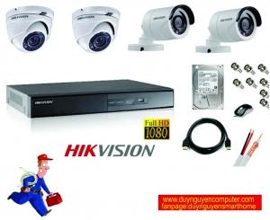Trọn bộ hệ thống 5 camera 1.0MP hikvision