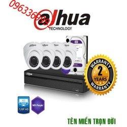 Trọn bộ hệ thống 6 camera 3.0MP Hikvision